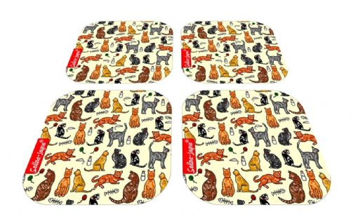 Selina-Jayne Cats Limited Edition Designer Coaster Gift Set